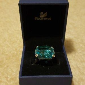Authentic Swarovski crystal ring size 7